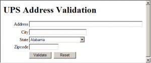 UPS API Address Validation
